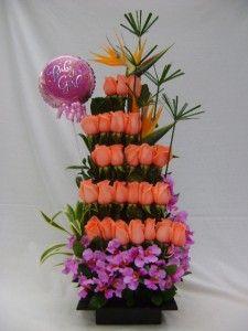 Arreglos florales con frutas